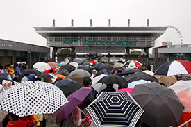 Japanese fans may need umbrellas again