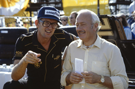 Peter Warr with Colin Chapman in 1982