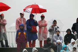 Fans have been braving terrible conditions