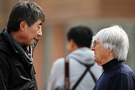 Yung Cho Chung and Bernie Ecclestone