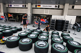 Tyres ready for action