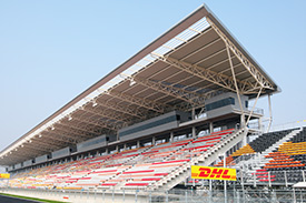 The new venue has a lot of grandstand capacity