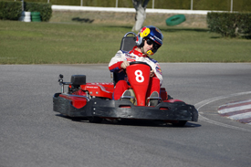 Sebastien Loeb at the Catalunya kart event