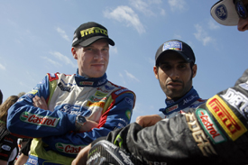 Jari-Matti Latvala with Khalid Al Qassimi