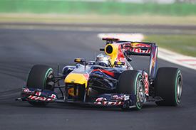 Vettel grabbed a late pole
