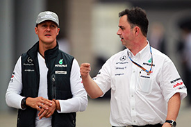 Schumacher was summoned to the stewards again