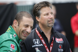 Tony Kanaan and Michael Andretti