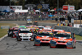 Race start at Barbagallo, 2009