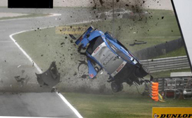 Alexandre Premat crashes at Adria