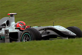 Michael Schumacher, Mercedes, Brazilian GP