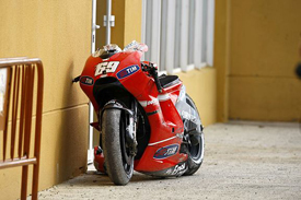 Nicky Hayden's damaged Ducati