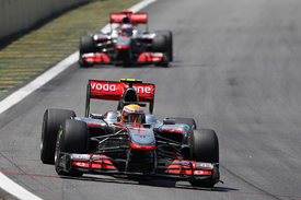 Lewis Hamilton and Jenson Button at Interlagos