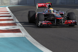 Lewis Hamilton, McLaren, Abu Dhabi 2010