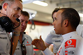 Martin Whitmarsh and Lewis Hamilton