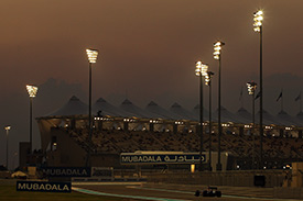 Vettel lit up Yas Island with pole on Saturday