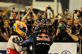 Lewis Hamilton and Sebastian Vettel, Abu Dhabi 2010