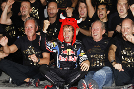 Sebastian Vettel and Red Bull celebrate in Abu Dhabi