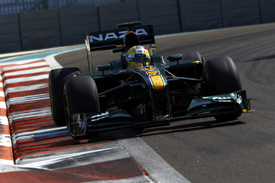 Rodolfo Gonzalez, Lotus, Abu Dhabi testing