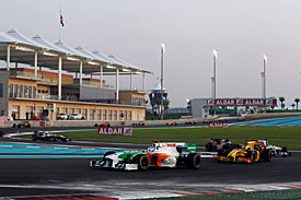 Overtaking was difficult in Abu Dhabi