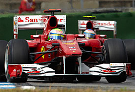 Felipe Massa leads Fernando Alonso, Germany, 2010