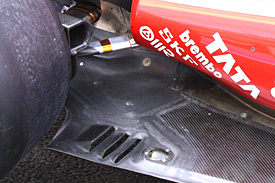 Ferrari added an extra gill to its floor for the final races