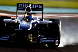 Rubens Barrichello, Williams, Abu Dhabi Pirelli testing