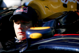 Sebastien Loeb during his Red Bull F1 test