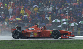 Barrichello's first win was an emotional one