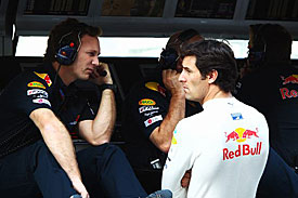 Mark Webber and Christian Horner