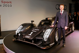 Allan McNish with the Audi R18