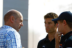 Adrian Newey, Mark Webber and Sebastian Vettel, 2010