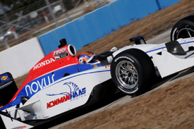 Oriol Servia tests for Newman/Haas at Sebring