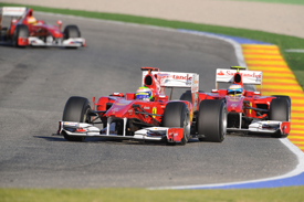 Three Ferraris on track at the team's World Finals event