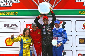 Ana Beatriz, Felipe Massa, Lucas di Grassi and Rubens Barrichello at Massa's kart race