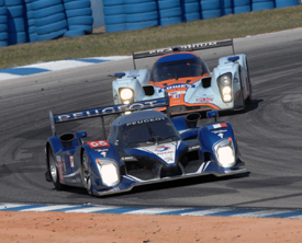 Peugeot leads Aston Martin at Sebring in 2010