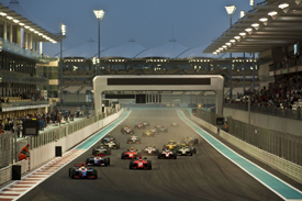 GP2 Asia at Yas Marina in February 2010