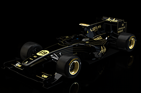 The winning black and gold Lotus livery