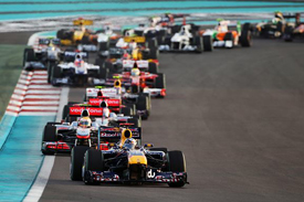 Sebastian Vettel leads the Abu Dhabi Grand Prix