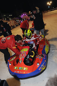 Valentino Rossi goes karting at Wrooom
