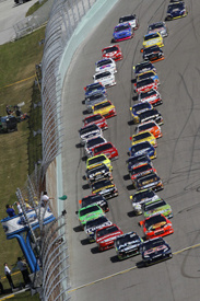 NASCAR racing at Homestead in 2010
