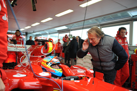 Fernando Alonso settles into the new Ferrari