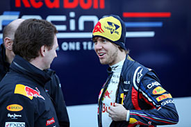Sebastian Vettel, Red Bull launch, 2011