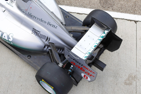 Mercedes W02 rear wing