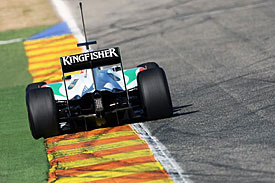 Paul di Resta, Force India, Valencia test 2011