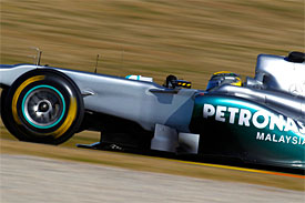 Nico Rosberg, Mercedes, Valencia testing