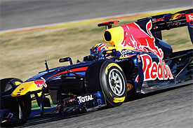 Mark Webber, Red Bull, Valencia testing