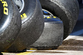 Degradation has been high on the Pirelli tyres
