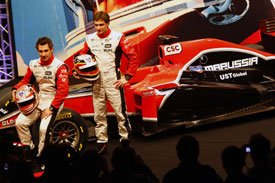 Timo Glock, Virgin MVR-02 launch
