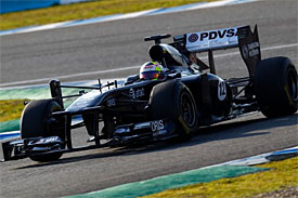 Pastor Maldonado, Williams, Jerez testing