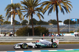 Michael Schumacher, Mercedes, Jerez testing